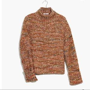 NWT Madewell Rainer Mock Neck Sweater Marled Cider